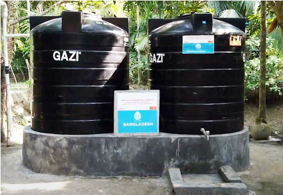 Rainwater Harvesting System for poor kids, Penny Appeal
