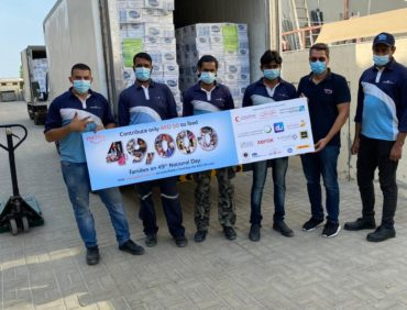 NFPC Dubai is participating with 49000 Oasis water bottle supporting the 49000 nefsy Food Boxes Initiative