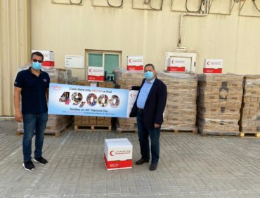 GulfCo sharing 50,000 sanitizers for the 49000 nefsy Food Boxes