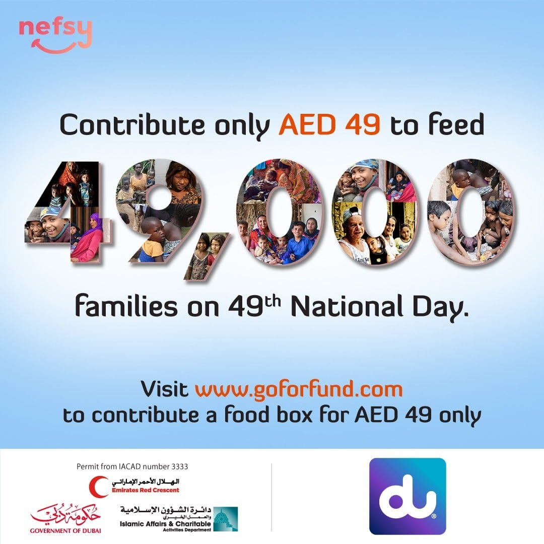 Du supports the 49000 nefsy Food Boxes initiative