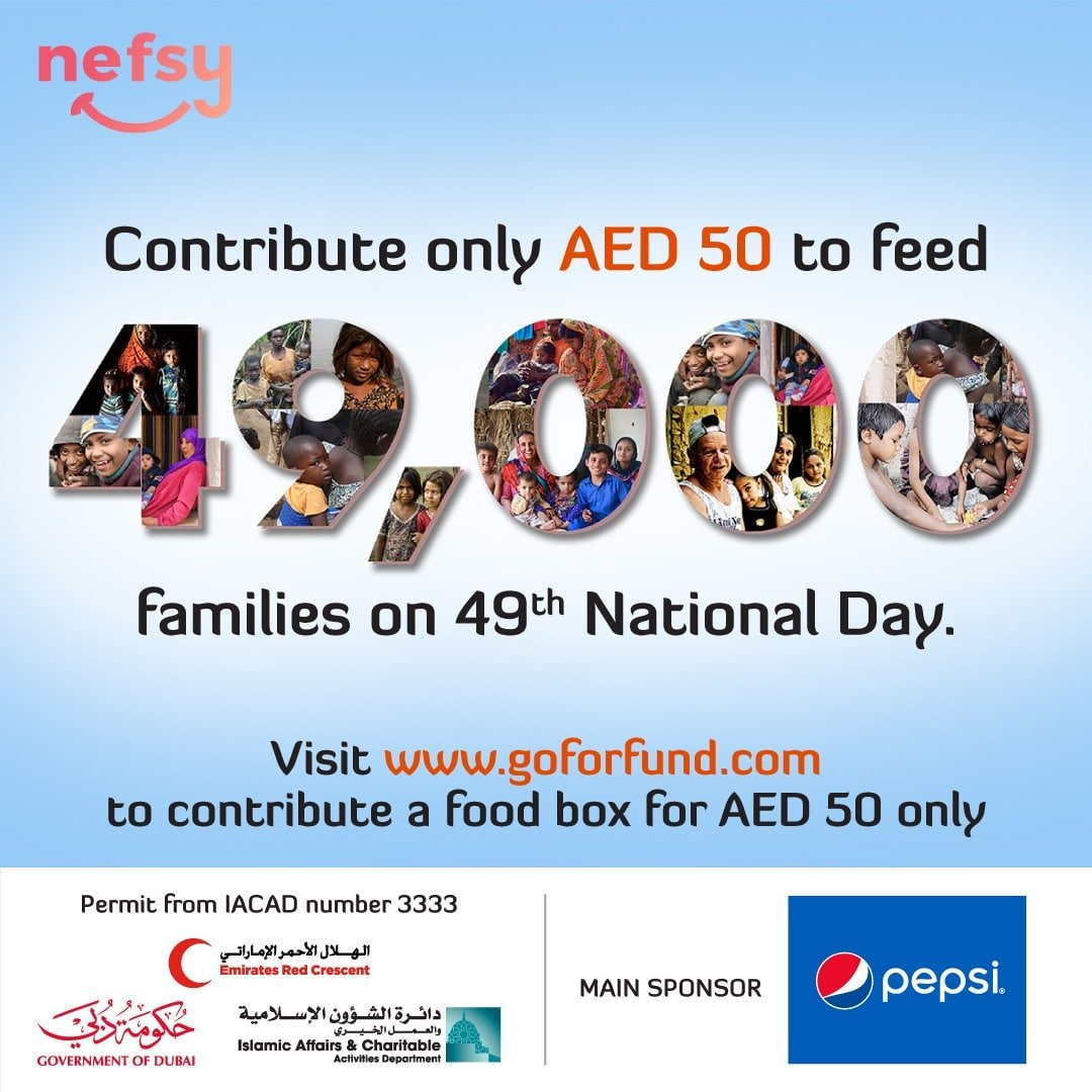Pepsi the Main Sponsor for the 49000 nefsy Food Boxes initiative